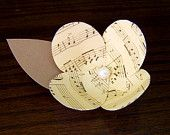 1 Music Note Flower -Vintage Inspired -Boutonniere Idea -Paper Flower -DIY Wedding Accessory -Make Music Together
