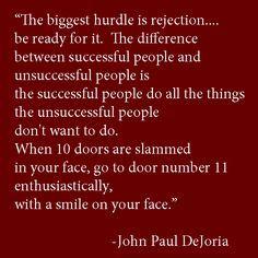 25 Inspirational Quotes to Help You Deal With Rejection... good for writers, and job seekers! #writingtips