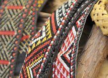 Taniko weaving Maori Patterns, Flax Weaving, Maori Designs, New Zealand Art, Nz Art, Maori Art, Kiwiana, Tapestry Crochet, Weaving Patterns