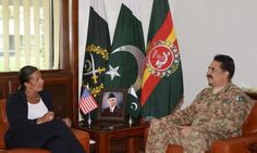 Susan Rice called on Chief of Army Staff General Raheel Sharif at the General Headquarters on Sunday were she appreciated the Pakistan Army sincere efforts and sacrifices in war against terrorism.