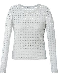T By Alexander Wang Perforated Longsleeved Top - Ottodisanpietro - Farfetch.com
