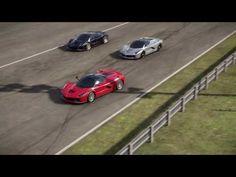 Ferrari LaFerrari 950HP V12 2015 - YouTube Ferrari Spider, Ferrari California, Ferrari Laferrari, Bugatti Chiron, Art Cars, Super Cars, Racing, Youtube, Running
