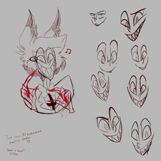 Drawing Reference Poses, Design Reference, Drawing Tips, Art Reference, Facial Expressions Drawing, Character Art, Character Design, Fanart, Alastor Hazbin Hotel