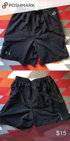 Under Armour Men's Shorts Loose fit men's Under Armour shorts, used in good condition. Very lightweight, has inner lining and adjustable waistband. Under Armour Shorts Athletic
