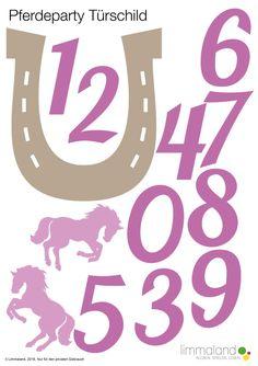 Pferdegeburtstag Türschild Empfang