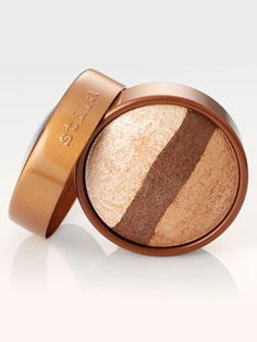 Stila Eye Shadow Trio in Bronze Gold, $28, stilacosmetics.com, a bronze-y golden palette. - hazel eyes