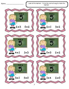 Fluency Within 5 - Common Core -  These are math games that focus on Kindergarten Math - MACC.K.OA.1.5. $