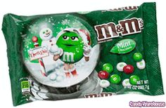 Mint Christmas M&M`s Candy
