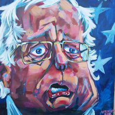 Another piece from the #art alley in #neworleans.  This picture painting of #berniesanders does not do it justice.  The artist was asking $1200 for this and another piece of #donaldtrump. #nola #paintings #frenchquarter by danny__dice