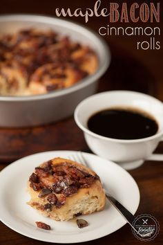 Imagine waking up to some warm Maple Bacon Cinnamon Rolls with sweet pure maple syrup glaze paired with crisp applewood smoked bacon. Yum!