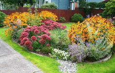 Completed rain garden irrigation system
