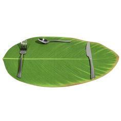 Banana leaf placemat br / - Set of 6 Aqua, Tropical, Green Kitchen, Urban, Outdoor Dining, Surfboard, Household, Leaves, Unique