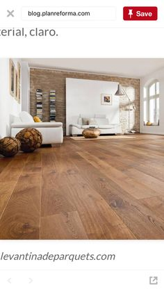 Discover recipes, home ideas, style inspiration and other ideas to try. Living Room Vinyl, Living Room Wood Floor, Living Room Flooring, Home Living Room, Style At Home, Vinyl Wood Flooring, Sala Grande, Bathroom Vinyl, Kitchen Vinyl