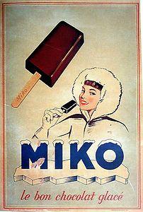 Vieille publicité Miko  #publicite #retro #miko