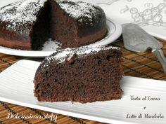 Torta al Cacao e Latte di Mandorla