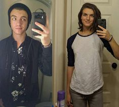 2016 to 2018 year vs + 1 year HRT, 20 y. Transgender Before And After, Mtf Before And After, Transgender Transformation, Male To Female Transformation, Male To Female Transgender, Transgender Girls, Female Hormone Pills, Mtf Hrt, Mtf Transition