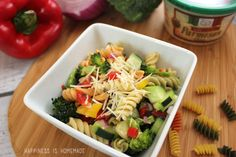 The Best Pasta Salad Recipe Ever! - Happiness is Homemade