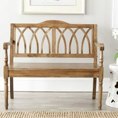 Indoor Bench: saw one in dark brown at Hobby Lobby today. Really pretty.