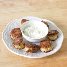 Corriander Chicken Meatballs With Yogurt Sauce