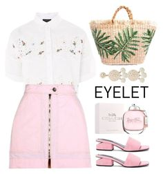 """Eyelet"" by miee0105 ❤ liked on Polyvore featuring Topshop, Isabel Marant, Coach, Alexander Wang and Humble Chic"