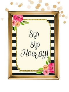 How adorable is this sign? Perfect for a mimosa bridal shower or a bachelorette party drinking table! It's available INSTANTLY when you purchase it, too! Double click to view and purchase from Pretty Printables Ink on Etsy.
