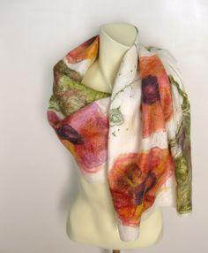 Felted Scarf Silk Wool