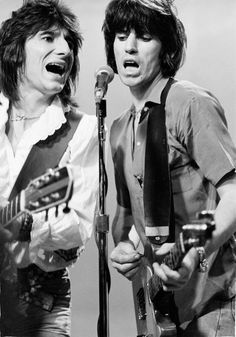 Ronnie Wood and Keith Richards  of the Rolling Stones during video shoot,  New York, USA 1978