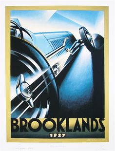 Brooklands 1927 Giclee by Alain Levesque