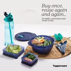 Portable, convenient and made to last. Snack Containers, Batch Cooking, Pantry Organization, Tupperware, Paleo Recipes, Drink Bottles, Reuse, Sustainability, Forget