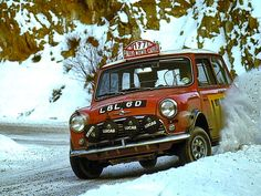 BMC Mini 1275 Cooper S  Rauno Aaltonen winning the 1967 Rallye Monte Carlo.