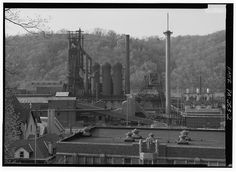 Monessen Works, Westmoreland Co,, PA CLOSER VIEW OF STEEL WORKS, SAME POSITION AS FRAME NO. 1. - Pittsburgh Steel Company, Monessen Works, Donner Avenue, Monessen, Westmoreland County, PA
