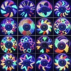Fidget Spinner Hand Spinner Quimat LED Licht AN Finger Spielzeug EDC 18 Modi Blinken