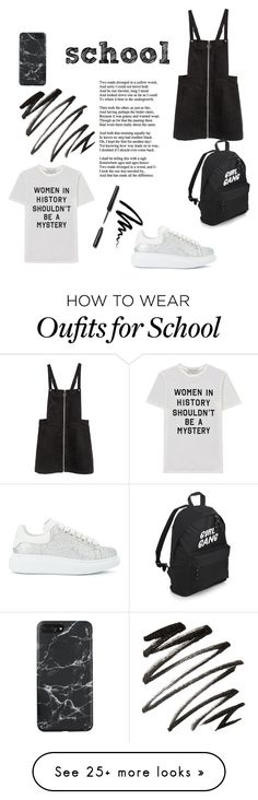 """""""The school look. On the 15000usa"""" by radchukdasha on Polyvore featuring Alexander McQueen, Être Cécile and Bobbi Brown Cosmetics"""