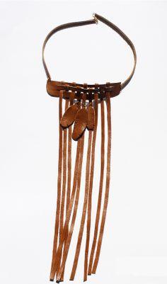 Naszyjnik DinguDingi  |  DinguDingi Necklace :) #leather #feather #handmade #design #etno