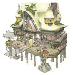 Final Fantasy XIV Version 2.0 Art & Pictures  Aquatic Town Building