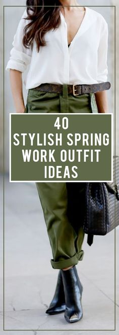 Forty stylish spring outfits to wear at work.