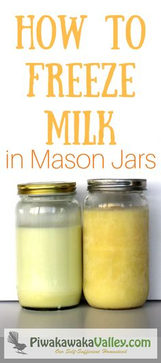 Do you have excess milk from your goats, sheep or cows? Have you tried to freeze it? Let me show you how to freeze stock, soup, stew and milk in the freezer without breaking your mason jars!