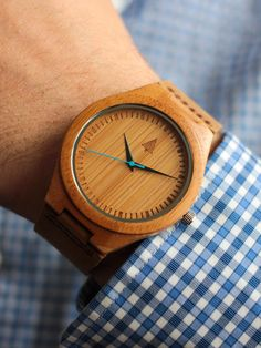 Color coordinate your wedding with a #Treehut wood watch. You can also get your groomsmen engraved watches to memorialize your special day! Starts at just $59.