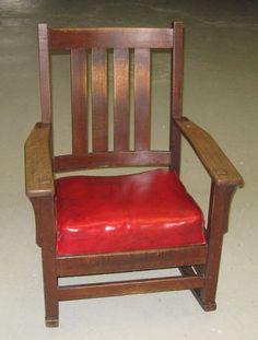 GOOD Antique L STICKLEY Large Slatted Rocker MISSION Oak Chair  #antiquechair   Antique Chairs   Pinterest   Rockers, Craftsman And Antique  Chairs