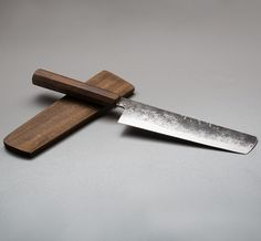 Walnut Nakiri 170mm kitchen knife by Bryan Raquin