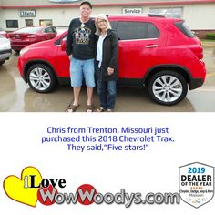 It's a perfect match for these two, congratulations on your recent purchase! 🎉 #wowwoodys #wowcustomers #carshopping #happycustomerss