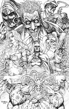 batman bane coloring pages | Batman Arkham Asylum Montage Frank Kadar Creating Graphic