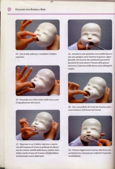 Doll Making ~ Sculpey Tutorial ~ 1 Sculpting Tutorials, Clay Tutorials, Polymer Clay Dolls, Polymer Clay Crafts, Silikon Baby, Clay Baby, Doll Tutorial, Cake Tutorial, Paperclay