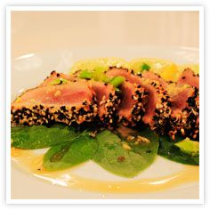 Recipes, Cooking Products and More for Home Cooks - Kikkoman : Ponzu Sesame Crusted Tuna Steaks