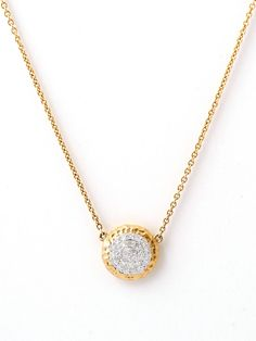 Phillips Frankel Yellow Gold Disc Pendant Necklace at London Jewelers!