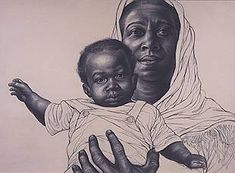 Mother & Child, Charles White http://www.charleswhite-imagesofdignity.org/12.html