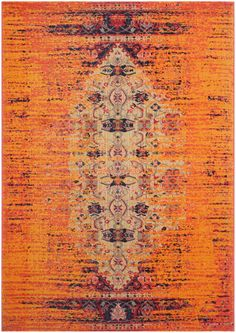 MNC209H Rug from Monaco collection.  Free-spirited and vibrantly colored, Monaco Collection rugs bring Bohemian-chic flair to folkloric and formal Persian designs. A mix of high and low loop pile is power-loomed of long-wearing polypropylene in classic textures and trendy erased-weave looks.
