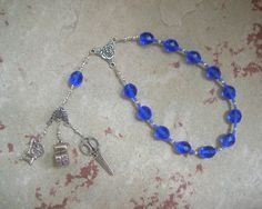 Pocket Prayer Beads for the Fates (Moirai): Greek Goddesses of Fate, Clotho who Spins, Lachesis who Measures, Atropos who Cuts the Thread by HearthfireHandworks on Etsy