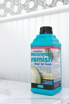 Decorator's varnish. The secret weapon to making wallpaper work in bathrooms and sealing any of your paint.