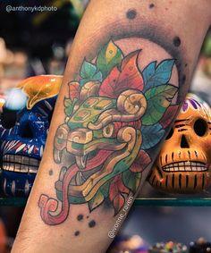 Love Tattoos, Black Tattoos, Body Art Tattoos, Tatoos, Mayan Tattoos, Mexican Art Tattoos, Real Tattoo, I Tattoo, Calaveras Mexicanas Tattoo